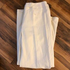 Wide Leg Pants, Silk & Linen Blend, Size 12